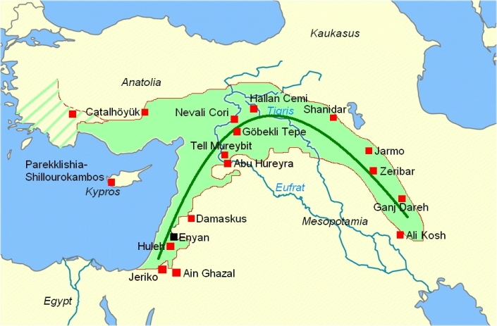 Fertile Crescent On World Map